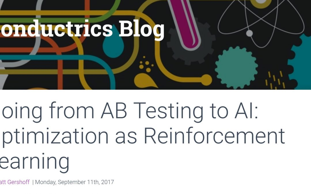 Going from AB Testing to AI: Optimization as Reinforcement Learning