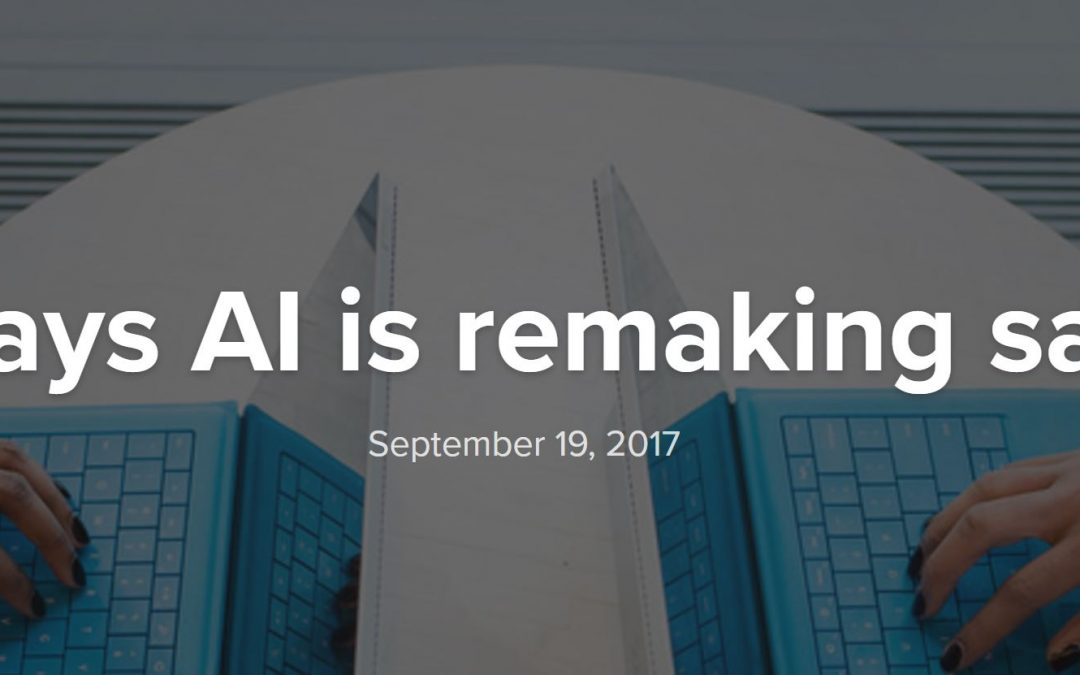 4 ways AI is remaking sales