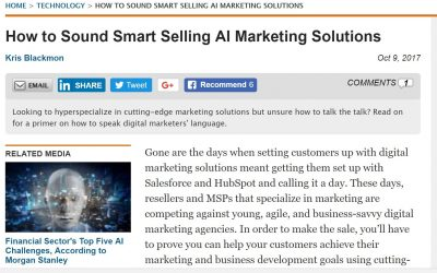 How to Sound Smart Selling AI Marketing Solutions